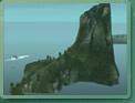 Le volcan éteint de l'îlot noir.