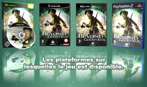 Les différentes plateformes sur lesquelles Beyond good and evil est disponible.