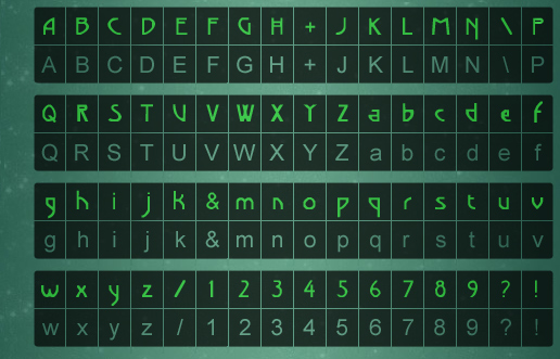 Alphabet de Beyond Good & Evil