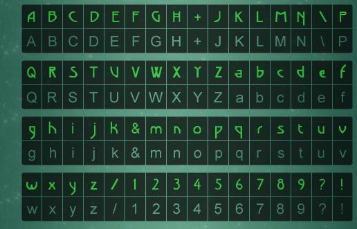 Alphabet de Beyond Good & Evil